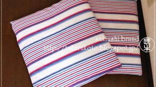 インド綿で座布団カバー
