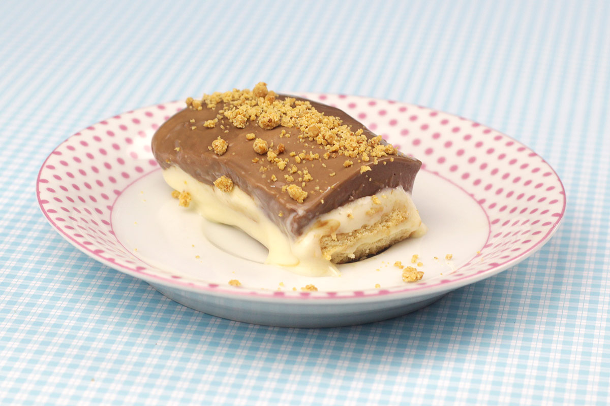 biscoito gelado super cremoso de leite condensado com chocolate