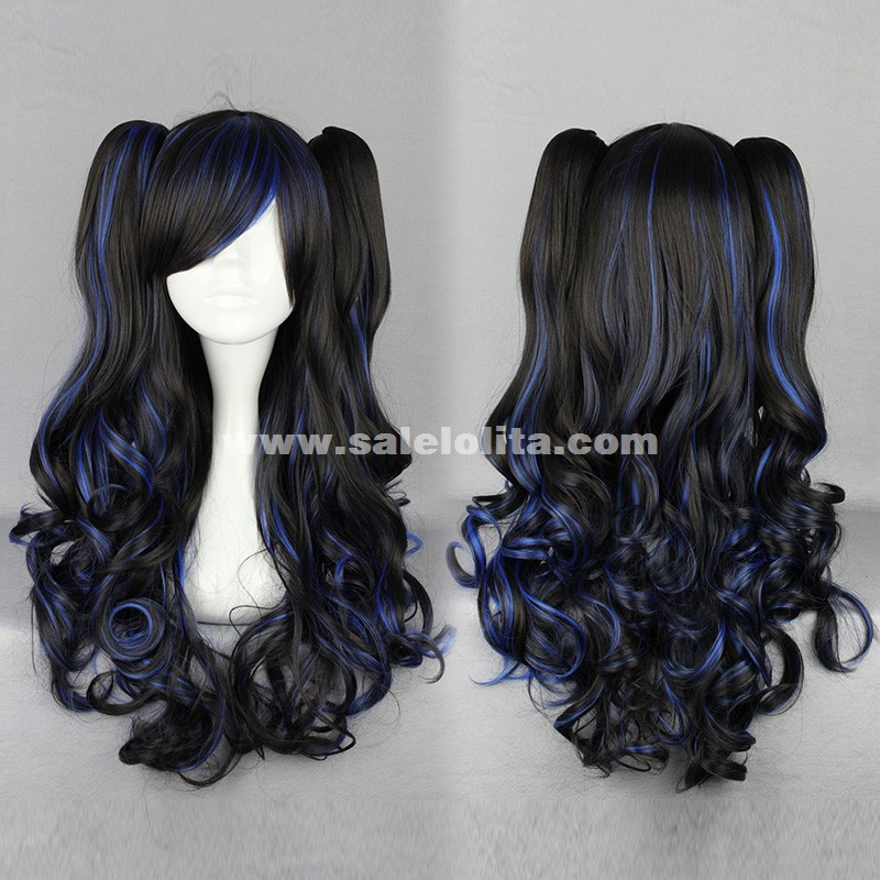 Curly Hair Length Chart Japanese Harajuku Lolita Wig Four Color Long Dual