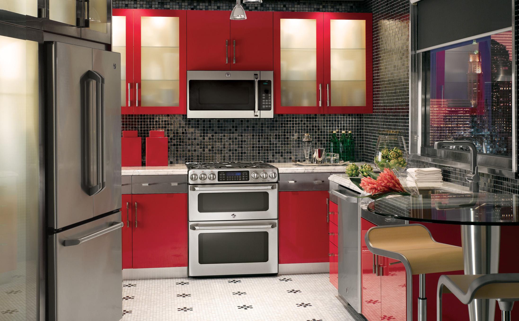 Kühlschrank Bekleben Retro : Moderne küche mit freistehendem kühlschrank retro kühlschrank