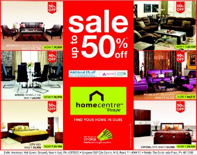 HomeCentre By LifeStyle - Upto 50% Off / New Delhi   SaleRaja