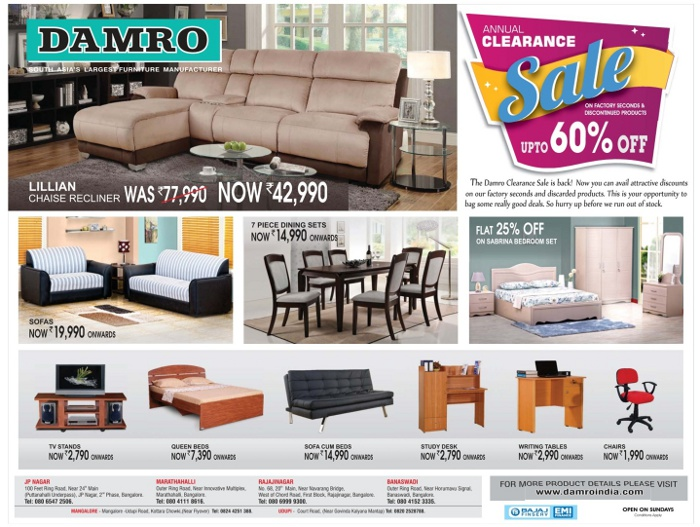 Sofa Set Price Sri Lanka Damro Furniture - Incredible Low Prices / Bangalore | Saleraja