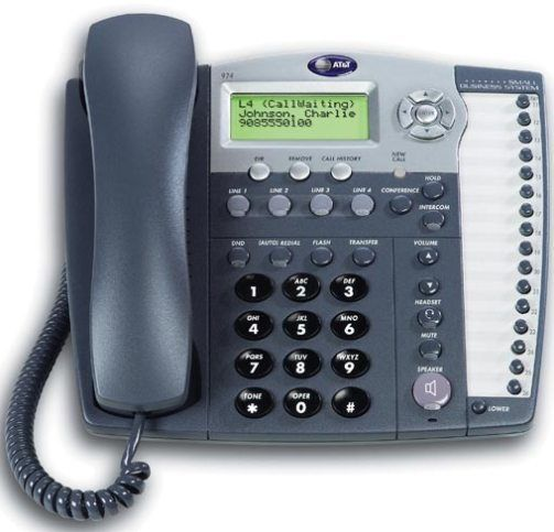 ATT ATT974 Model 974 Four-Line Small Business Phone System with - business phone book