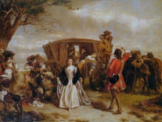 William Powell Frith painting of the Normandy highwayman Claude Duval