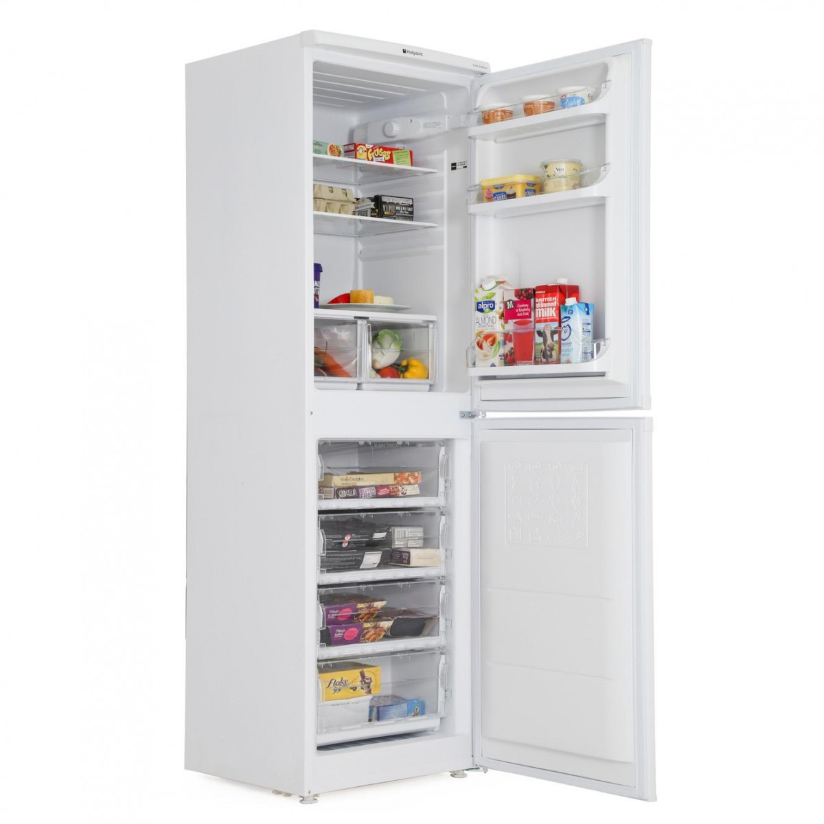 Fridge Freezer Hotpoint Hbd5517w 55cm Fridge Freezer White A Energy Rated