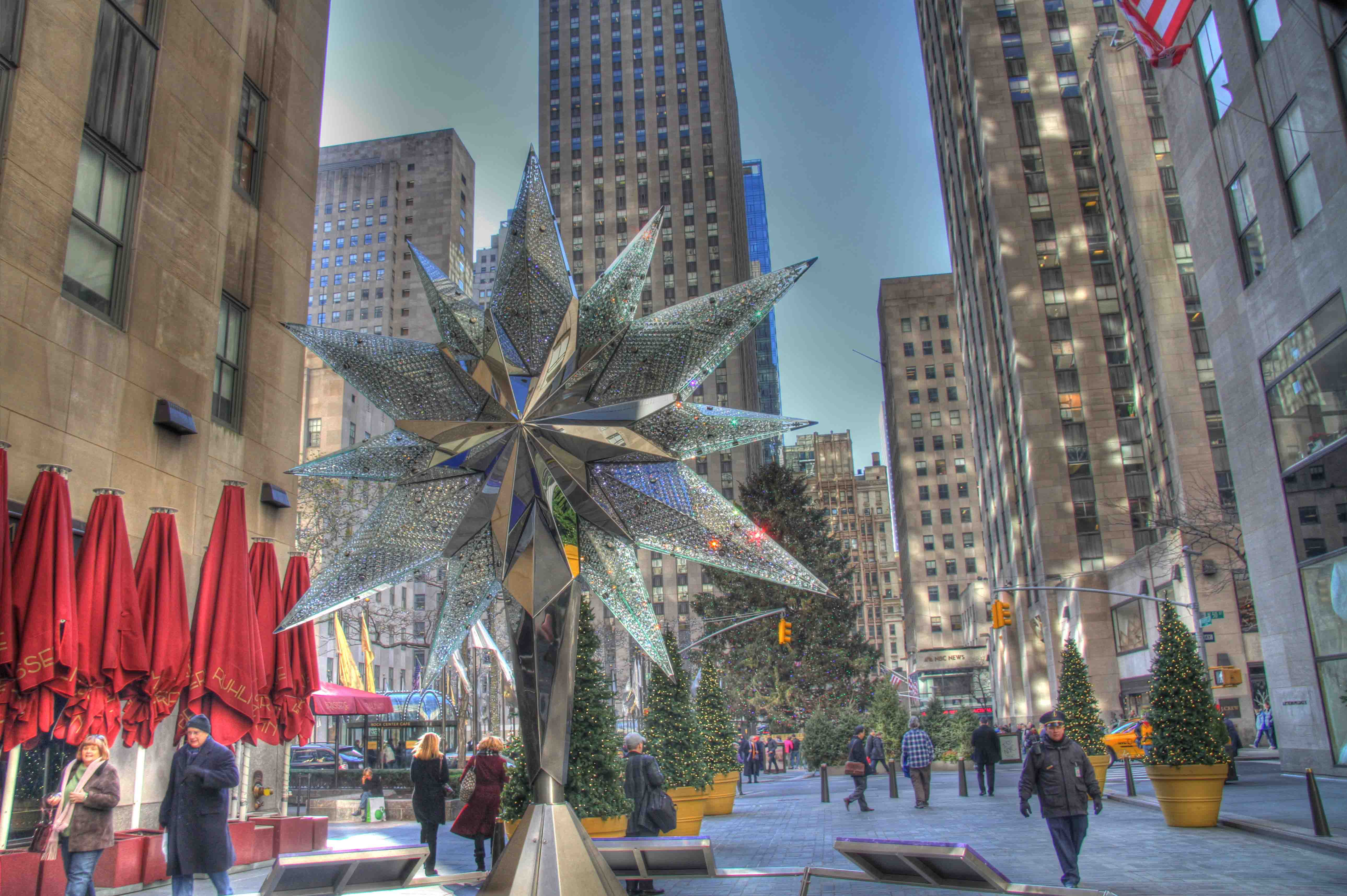 Cucina Restaurant Rockefeller Center The Rockefeller Center Christmas Tree The Swarovski Star
