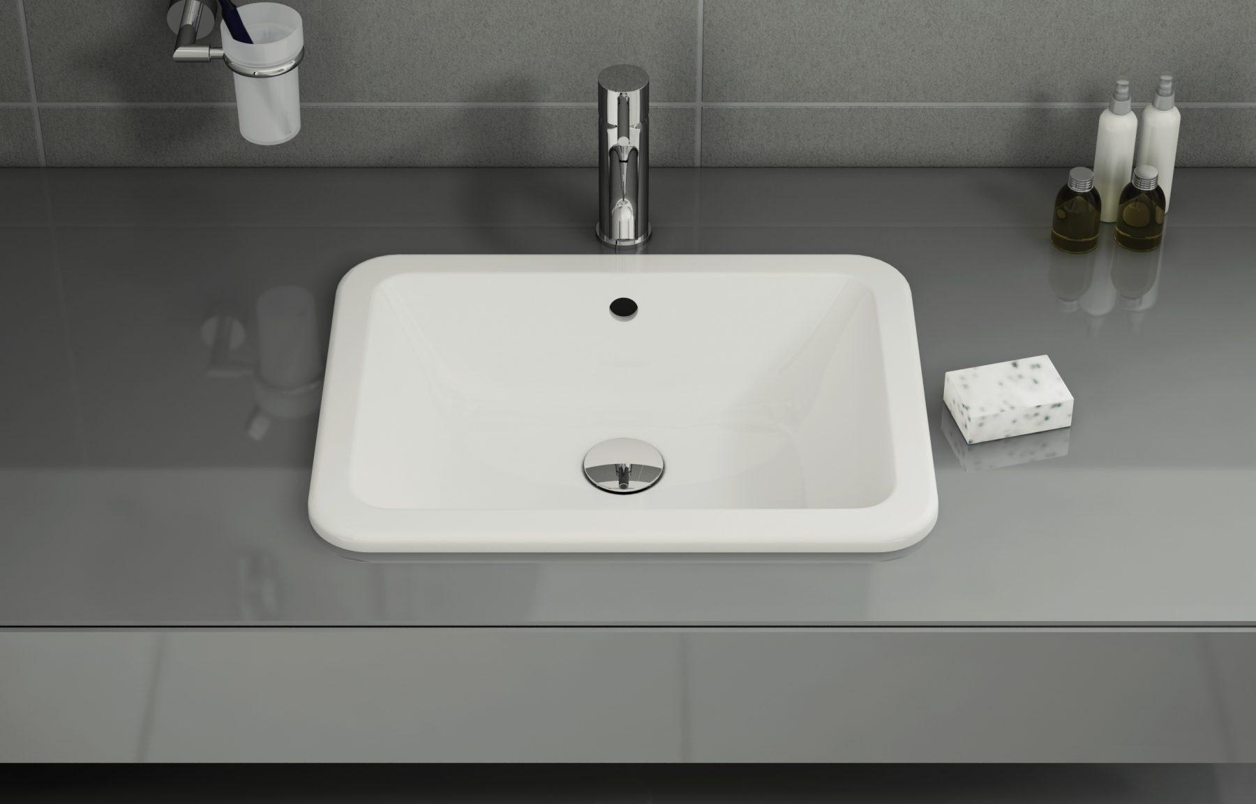 vasque a encastrer rectangulaire Vasques à Encastrer Par Dessus Fiche Produit