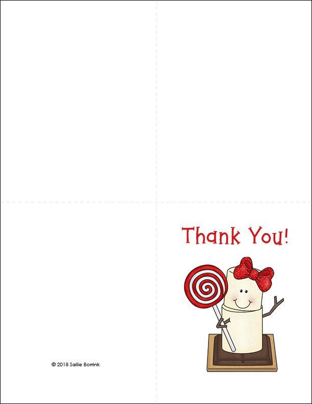 Free Printable Christmas Thank You Cards - SallieBorrink
