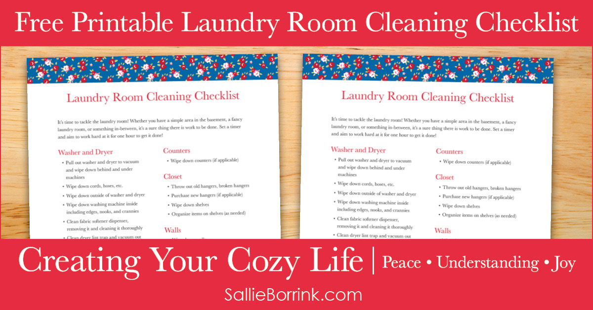Free Printable Laundry Room Cleaning Checklist - SallieBorrink