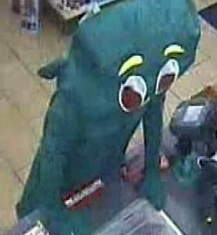 Police are considering whether to charge Jacob Kiss, 19, who dressed as 'Gumby'. Picture: AP