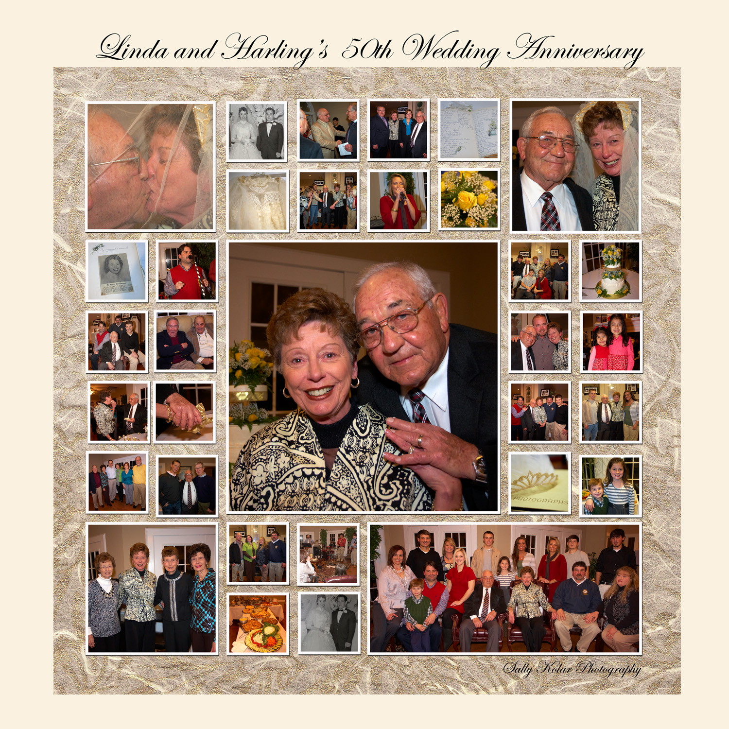 Fotocollage Hochzeit 50th Wedding Anniversary Collage Linda And Harling S 50th
