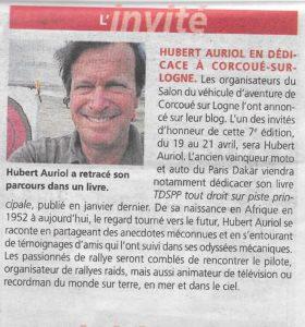 Hubert Auriol en dédicace à Corcoué-sur-Logne