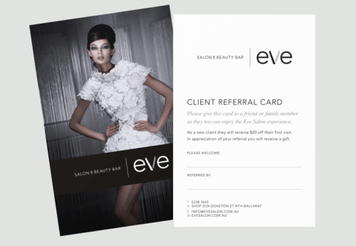 Personalised Referral Card