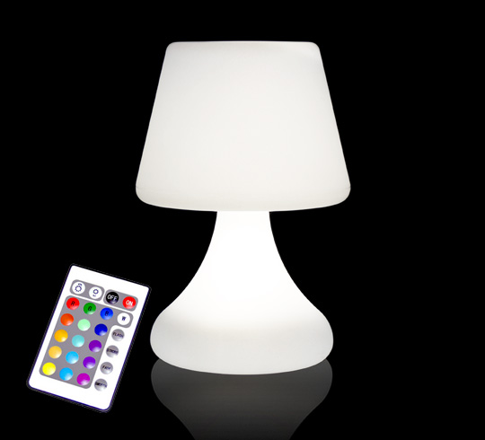Enceinte Bluetooth Exterieur Lampe De Table Led H26cm Sans Fil Rechargeable 49€ | Salon