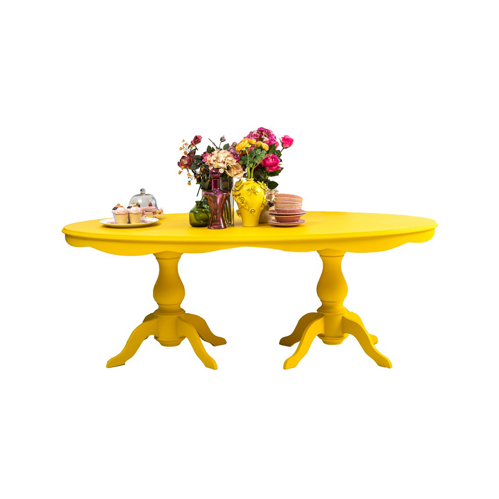 Möbel Yellow Jazz Art Ellipse Table Yellow Saloni Luxus Möbel Für Jeden