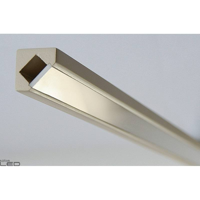 Led Verlichting 1m Led Profile 45 Mdf With The Cover, Lacquered 1m
