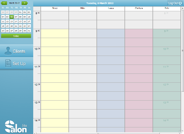Free Online Calendar Template 2012 Powerpoint 2012 Template Free Powerpoint Templates The Worlds First No Charge Cloud Hosted Salon Management