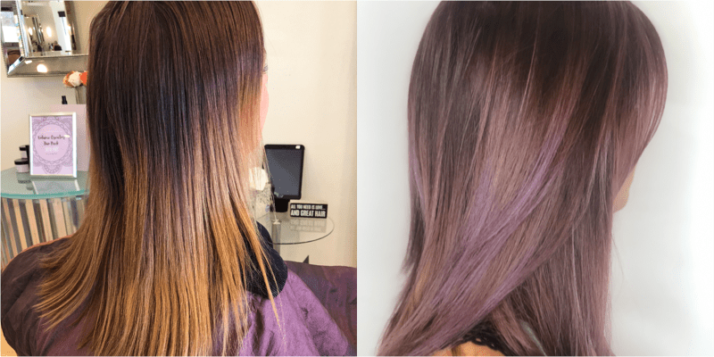 Baby-light Balayage Blend / Polychromatic Glaze / Cut / Blowdry