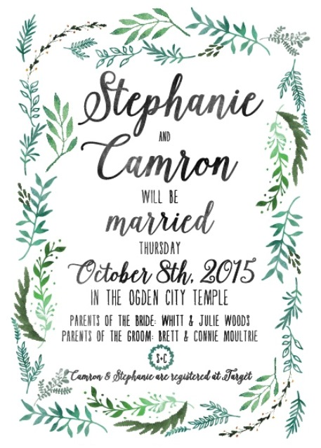 Utah Wedding Invitations - Utah Announcements - Salt Lake Bride - invitation forms