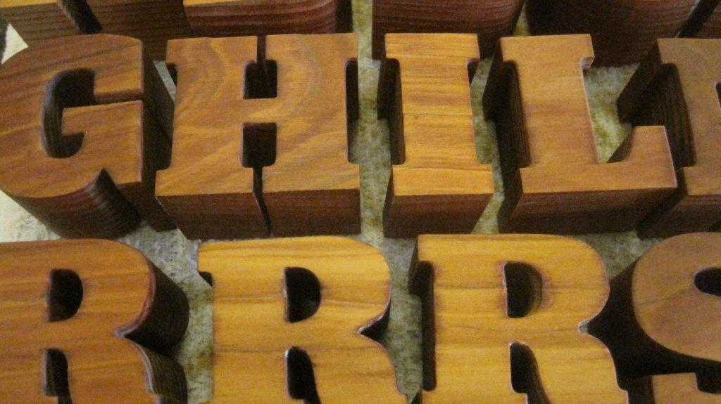 Custom Wood Letters, Wooden Lettering