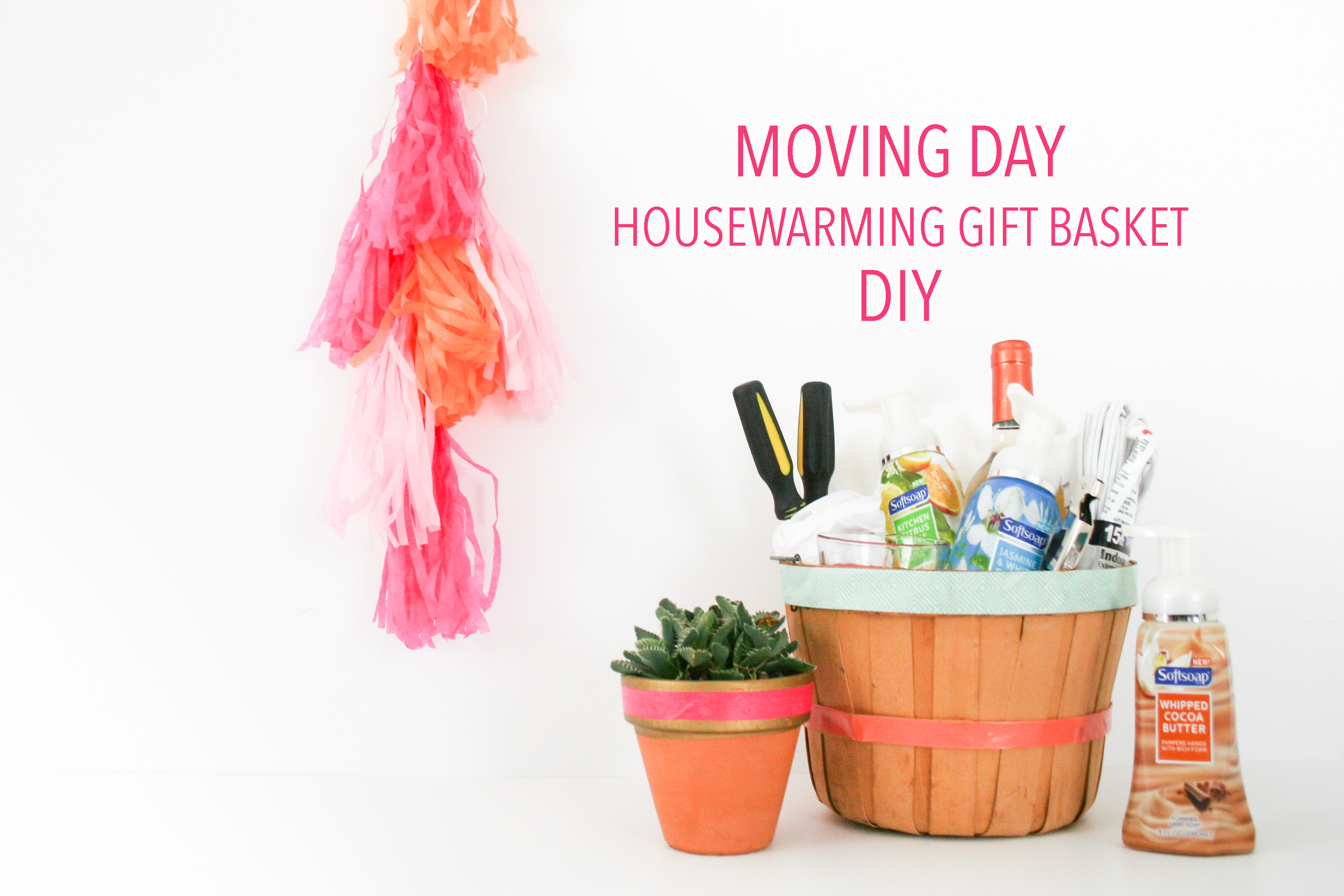 What Is A Nice Housewarming Gift Moving Day Housewarming Gift Basket Diy Salty Canary