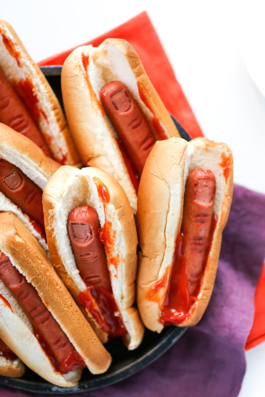 Halloween Kinderparty Buffet Bloody Finger Hot Dogs For Halloween