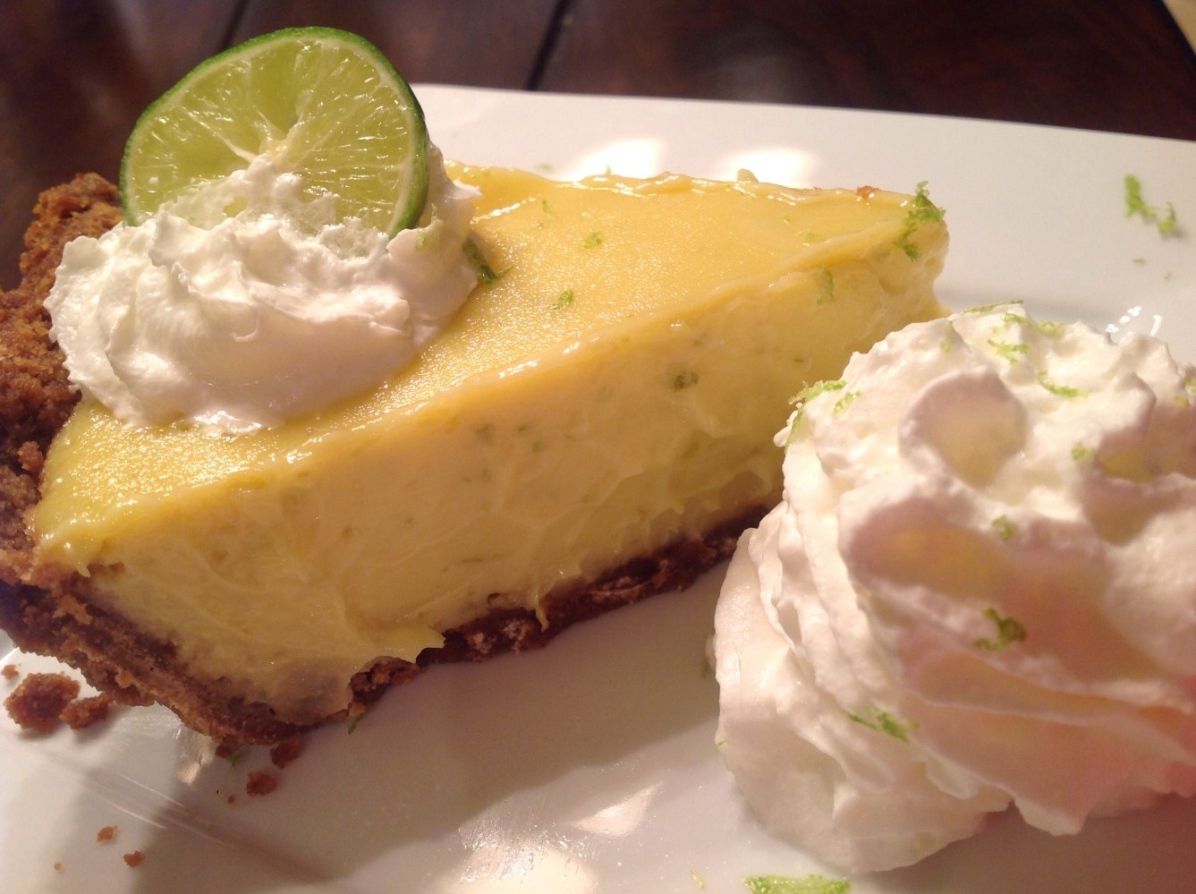 Key lime pie graham cracker crust