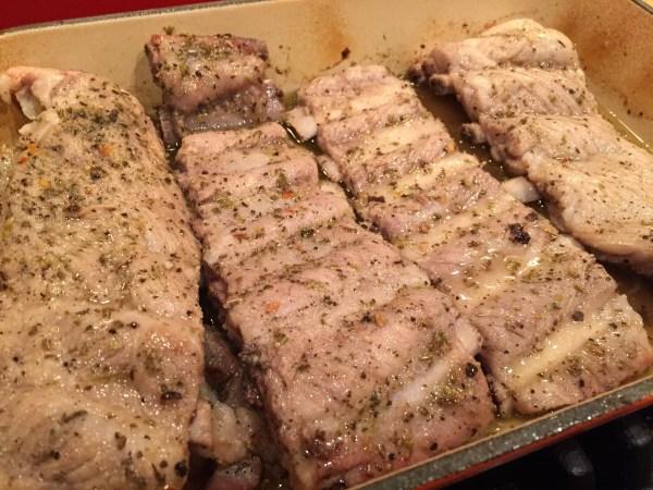 Tuscan pork riblets