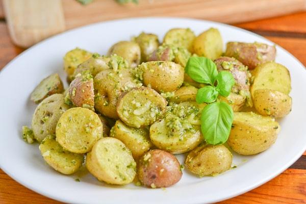 Roasted Pesto Potatoes - Salu Salo Recipes