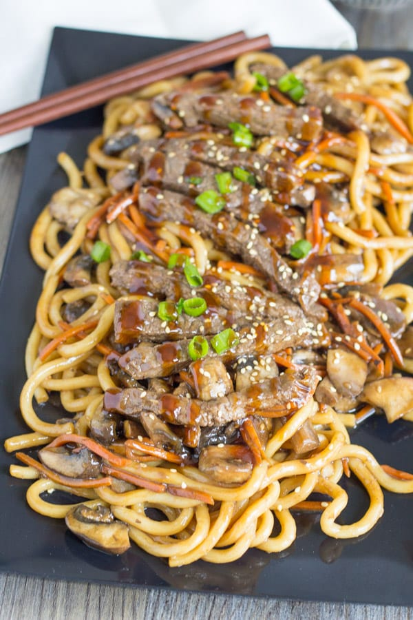 Beef Teriyaki with Udon Noodles-5