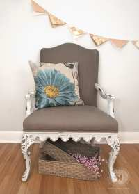 Painting Fabric with Chalk Style Paints: Granny Chair Makeover