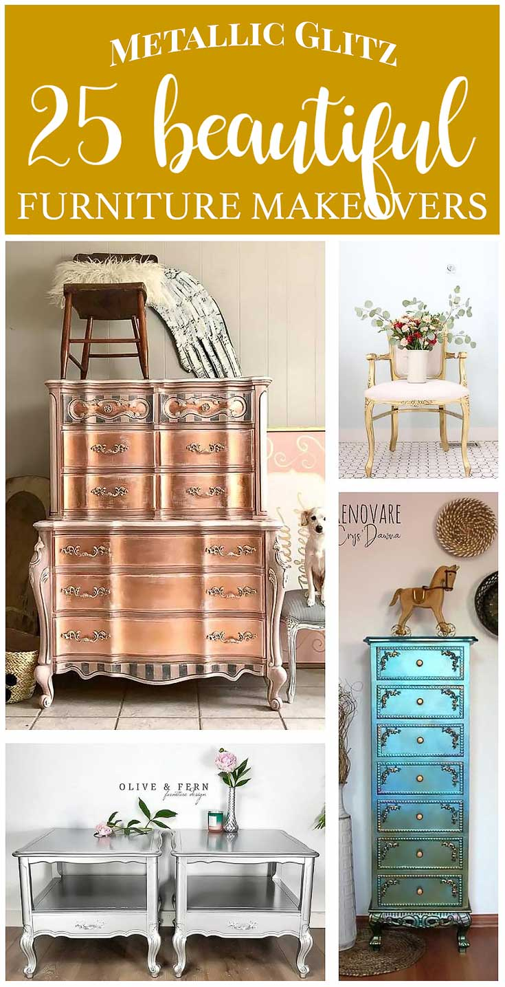 25 Metallic Painted Furniture Ideas Salvaged Inspirations