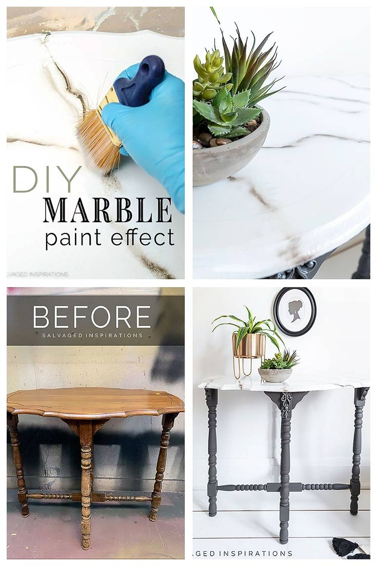 Diy Marble Paint Effect Salvaged Inspirations