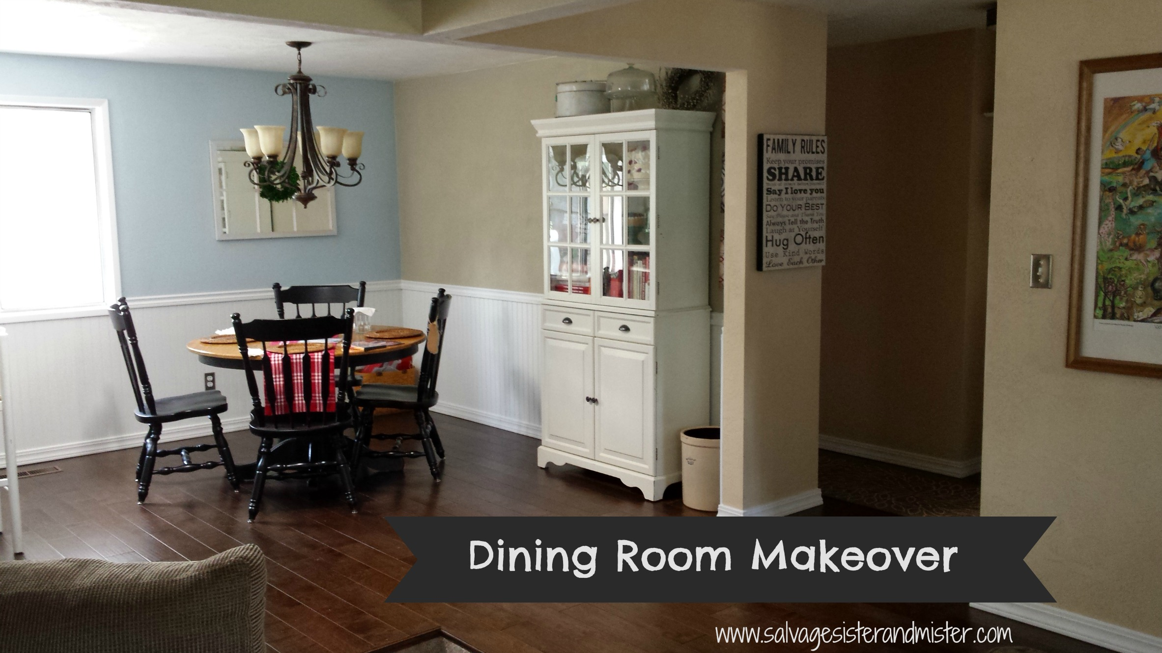 Dining Room Makeover Dining Room Makeover On A Budget Salvage Sister And Mister