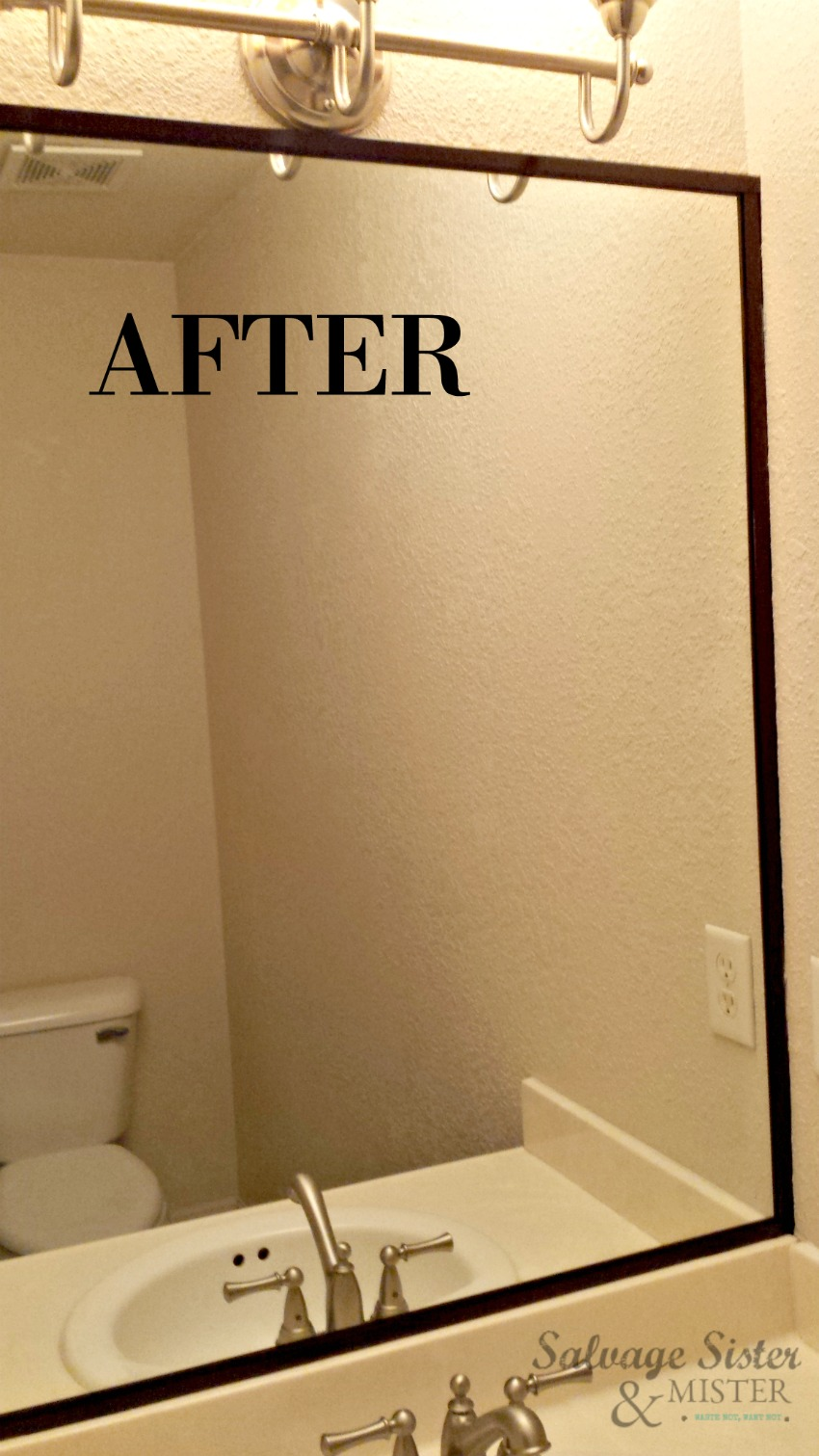 Painting Bathroom Mirror Trim Salvage Sister And Mister