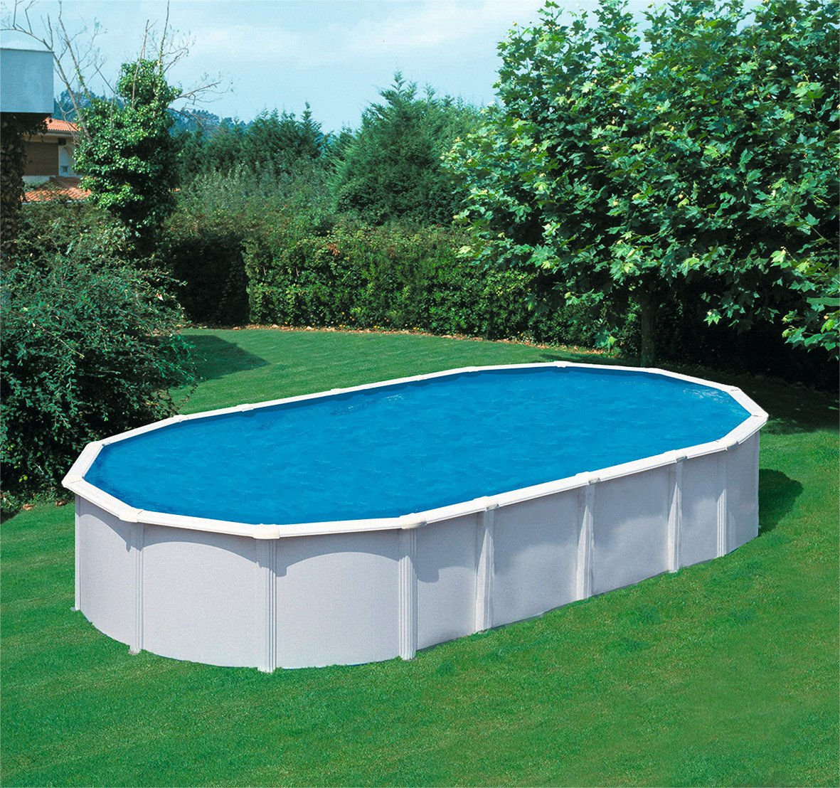 Pool Rund Oder Oval Pool Set Quotsteely Supreme Quot Rund Oval L 610 X B 360 X H 132
