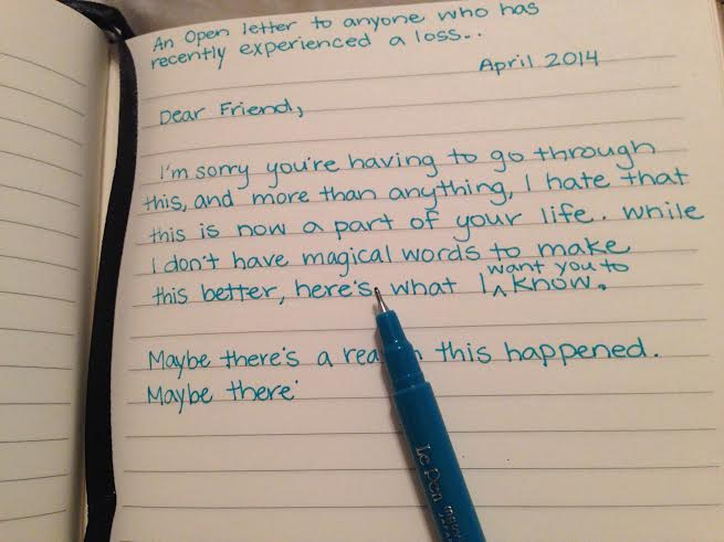 An Open Letter to Anyone Who Has Recently Experienced a Loss