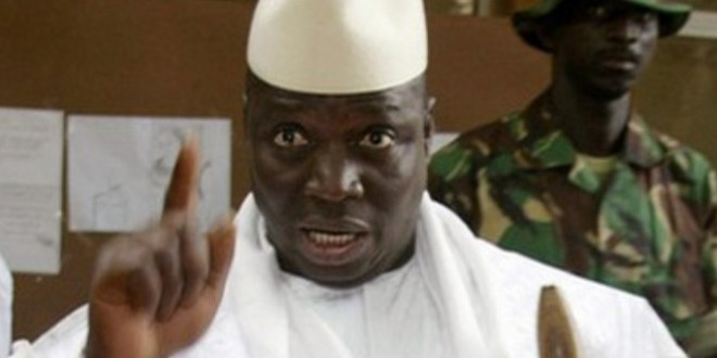 Yaya Jammeh menace l'opposition et l'occident