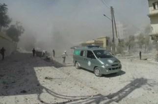 Dans l'enfer d'Alep, avec quelques courageux héros anonymes sous le feu des bombardements.-Syria Charity (capture d'écran)