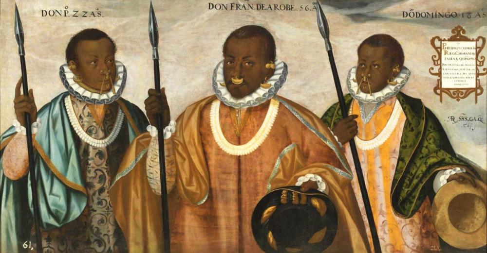 Andrés Sánchez Gallque, Don Francisco de Arabe and Sons Pedro and Domingo