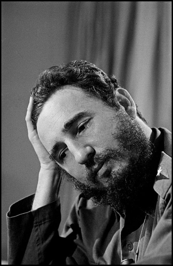 Fidel Castro en 1964. Elliot Erwitt. Magnum Photos