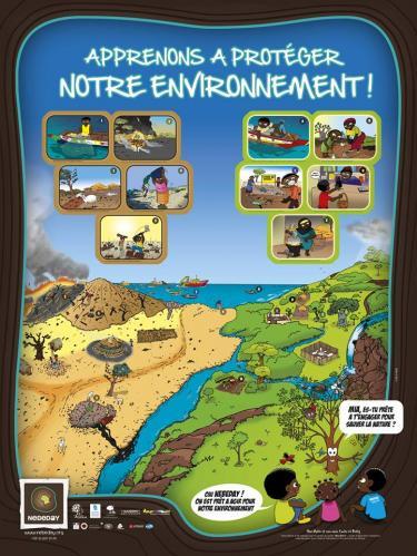 Une affiche conçue par l'agence pour l'association Nébéday