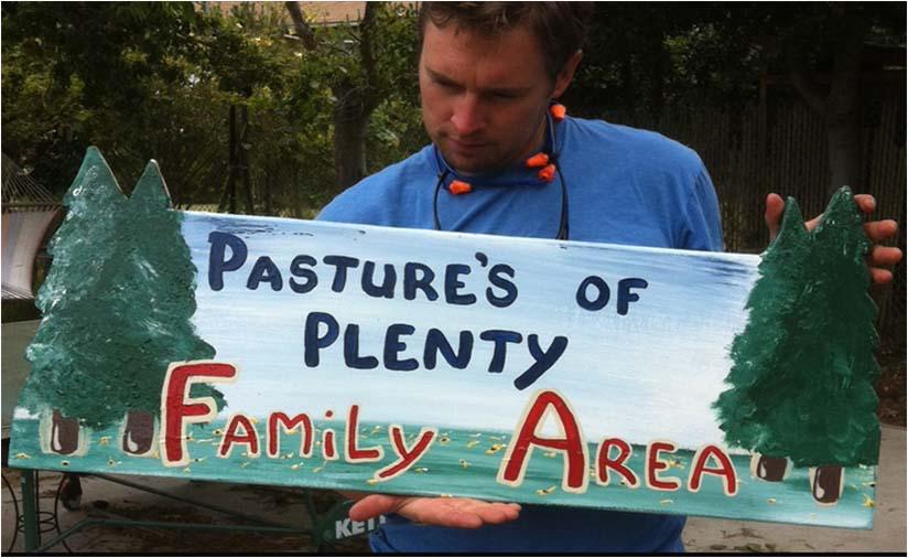PASTURES OF PLENTY SIGN