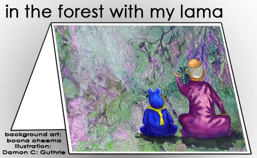in the forest with my lama