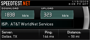 Speed test from AA #15
