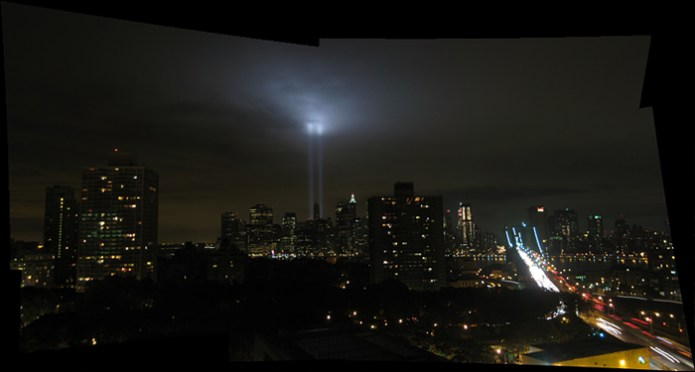 Sept 11 Tribute in Light from Brooklyn, NY