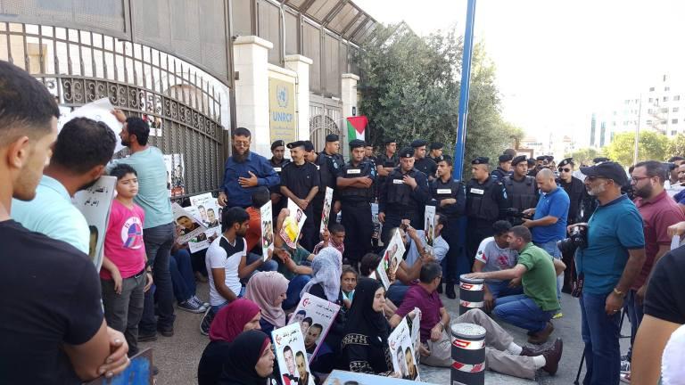 Filistin: Eyemciler Bilal Kayed'e Destek İçin Ramallah'taki BM Binasını Kapattılar