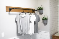 DIY Wall Mounted Clothing Rack | Sammy On State