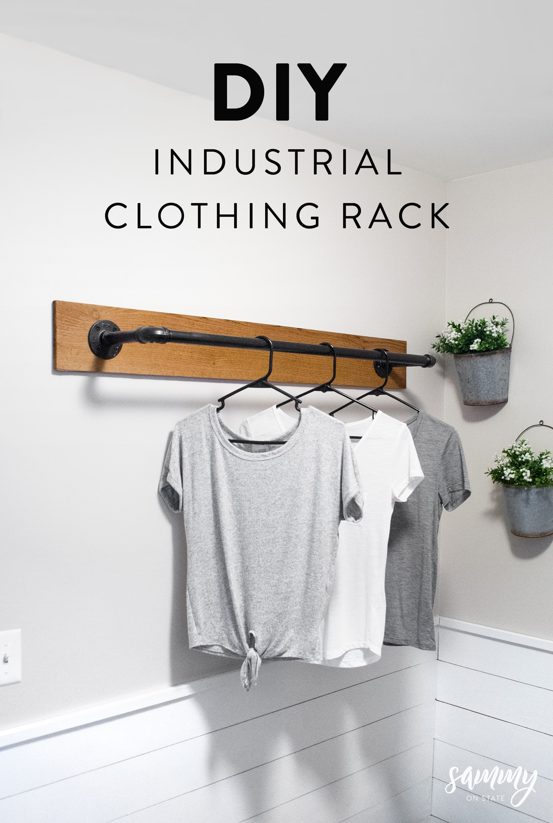 Industrial Clothing Rack Diy Wall Mounted Clothing Rack Sammy On State