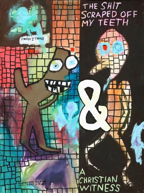 """""""Amazon Wishlist."""" 12/19/13. Acryic paint and food coloring. 18x24""""."""